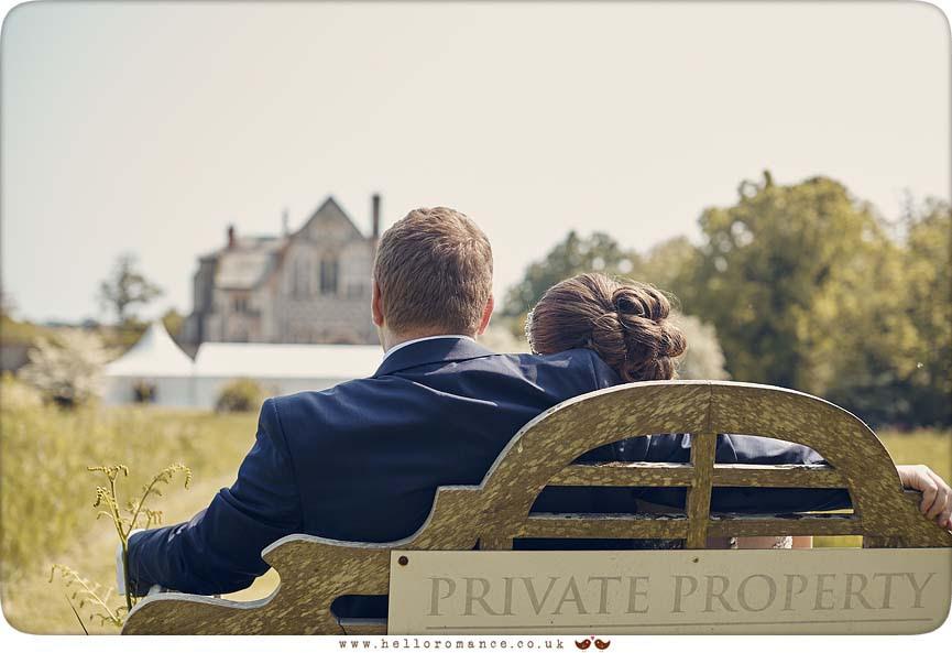 Private Property - Fun wedding photo Butley Priory Suffolk - www.helloromance.co.uk
