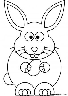 printable easter bunny coloring sheet for kids  free printable coloring pages for kids