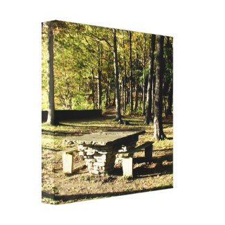 Letchworth State Park - Tea Table- Wrapped Canvas wrappedcanvas