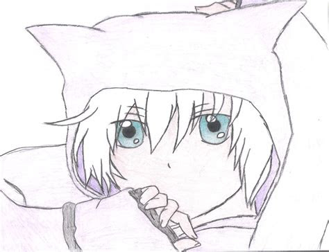 anime boy  neko hoodie  sleeplessdaydreamer