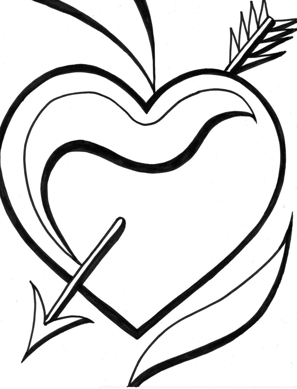 Heart Coloring Pages (3)   Coloring Kids