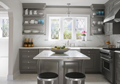 Gray Kitchen Cabinets - Contemporary - kitchen - Glidden Carolina ...