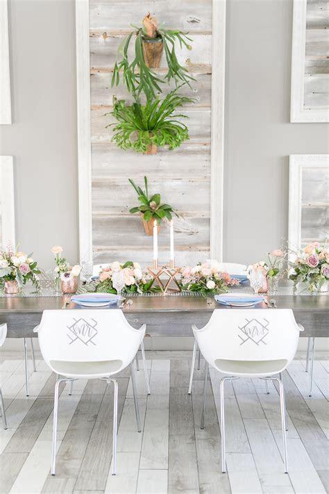 Modern Blush, Blue & Rose Gold Wedding Inspiration   Every