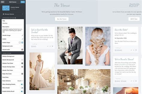 How to Make a Budget Wedding Website With Tumblr   Design