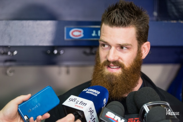 Jordie Benn a paru un peu étonné par l'attention... (Photo Simon Giroux, La Presse)