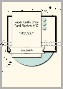 Paper Craft Crew Card Sketch 137 #stampinup #papercraftcrew #papercrafts #cardchallenge