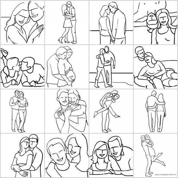 Позирование: позы для портретов пар
