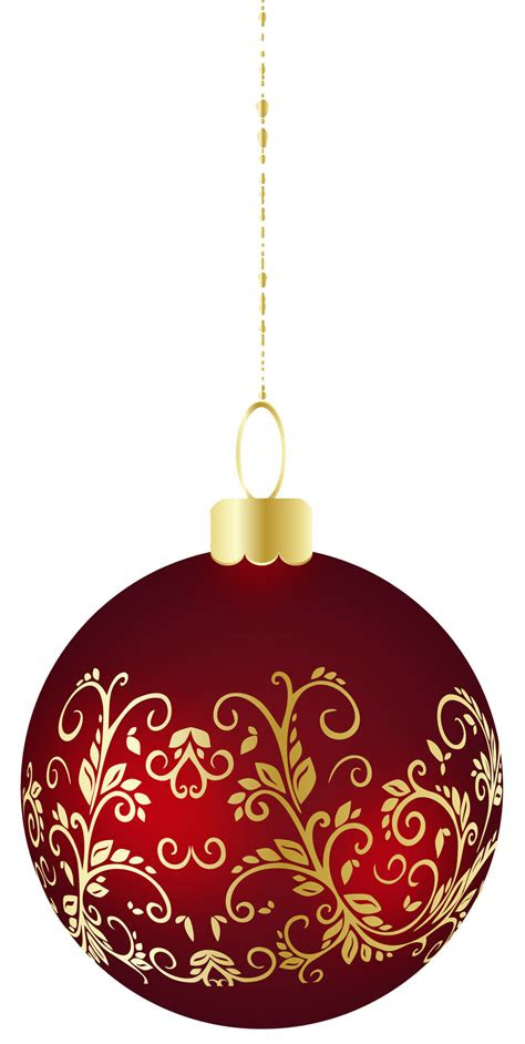 large transparent christmas ball ornament png clipart
