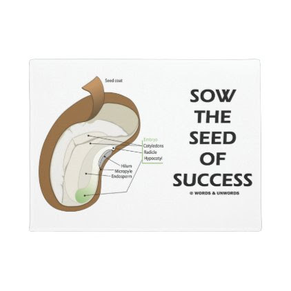 Sow The Seed Of Success Dicotyledon Bean Seed Doormat