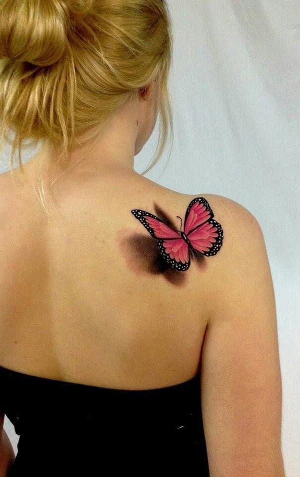 Love This 3d Butterfly Shoulder Tattoo Best Tattoo Design Ideas