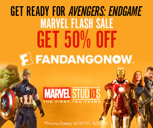 300x250 FandangoNOW Marvel Flash Sale Get 50% Off