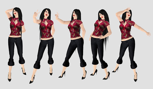 Embody shape and female poses