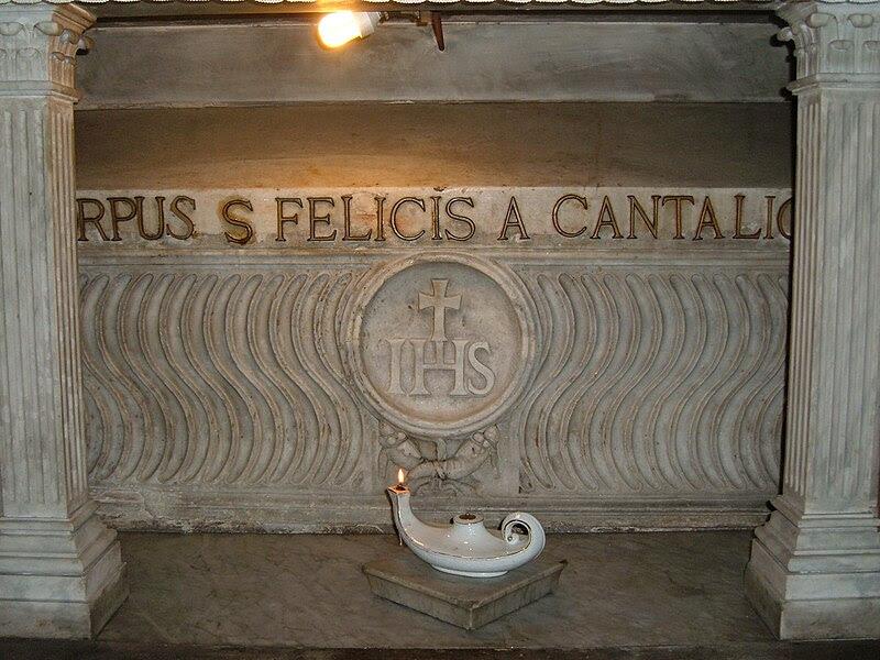 Chiesa dei Cappuccini - Tomba di San Felice da Cantalice.JPG