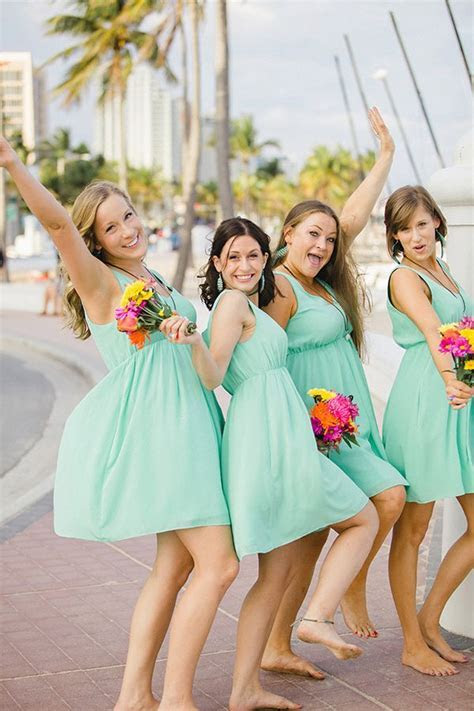 25  best ideas about Turquoise bridesmaids on Pinterest