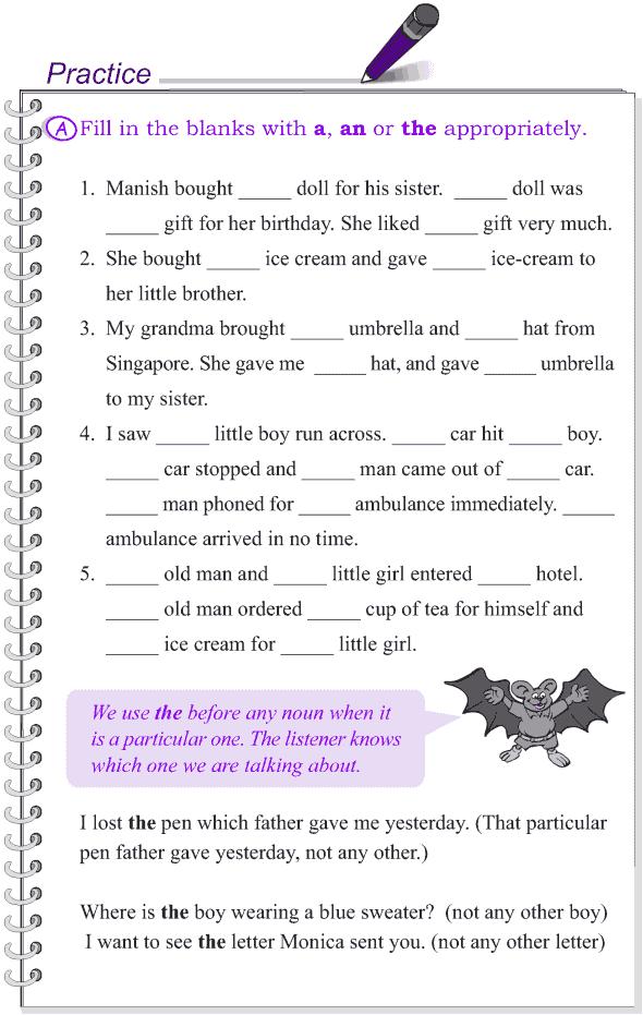 Grammar Grade 4 Grammar Lesson 12 Articles