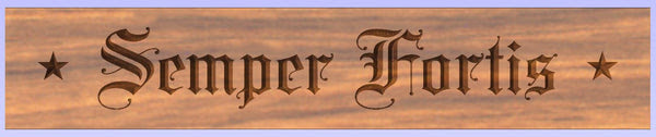 New Semper Fortis The Us Navys Unofficial Motto Carved Wall