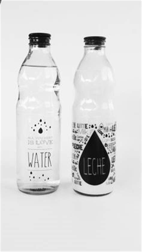 Etiquetas de Vinilo para Botellas 01 | Leche, Jugo y Agua