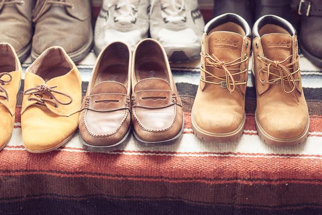Repurposed shoe rack