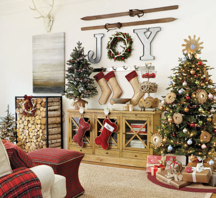 Stocking Tree For When No Mantle Is Available Christmas Ideas