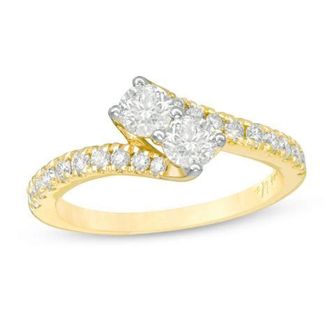 Ever Us? 1 CT. T.W. Two Stone Diamond Bypass Ring in 14K