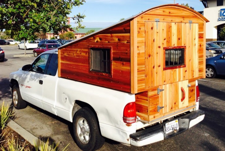 Homemade Wooden Pickup Truck Camper Shell - The Shelter Blog