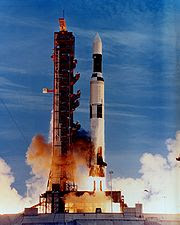 Launch of the last Saturn V rocket (Actually a Saturn INT-21) carrying the Skylab space station