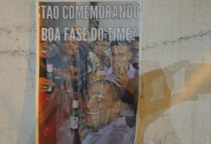 pichação Gávea Flamengo (Foto: Marcelo Baltar)