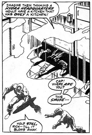 Avengers #107 panel
