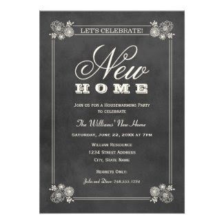Housewarming Party Invitations | Black Chalkboard