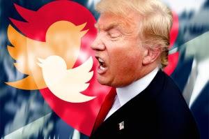Donald Trump twittrar på