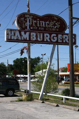 prince's hamburgers neon sign