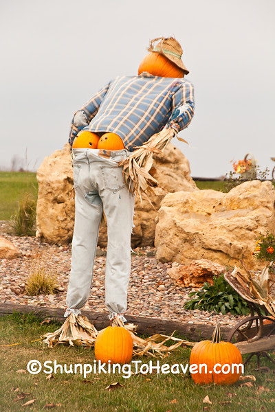 Humorous Halloween Display, Vernon County, Wisconsin