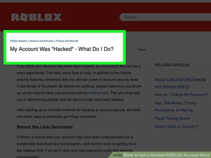 What To Do When Your Roblox Account Has Been Hacked Can You Change Your Password On Roblox Cheats In Roblox Bloxburg
