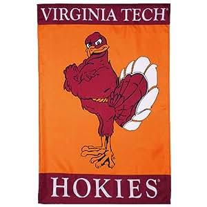 Amazon.com : NCAA Virginia Tech Hokies 28'' x 40'' Orange Mascot Banner Flag : Sports Fan ...