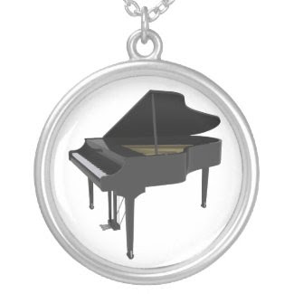 Black Grand Piano: Necklace necklace