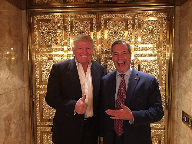 Nigel Farage tweeted this amazing photograph with the President-elect Donald Trump