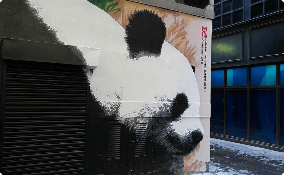 Giant Panda animal art in Glasgow