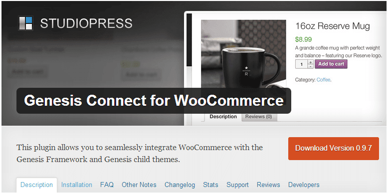 Genesis Connect with WooCommerce
