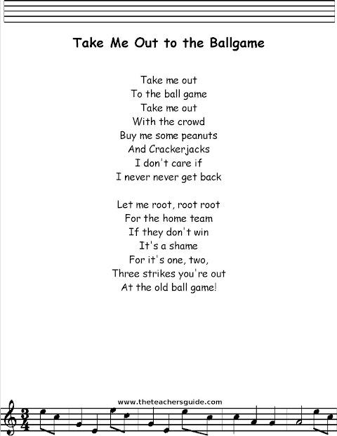 Lyrics To Take Me Out To The Ballgame
