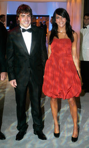 Fernando Alonso y Raquel Del Rosario, en Mónaco, en el 2007.