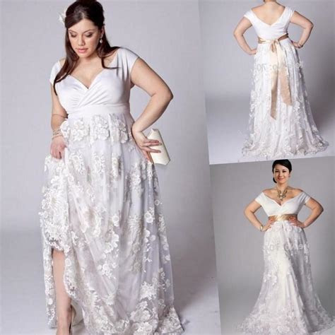 Cheap plus size beach wedding dresses   PlusLook.eu Collection