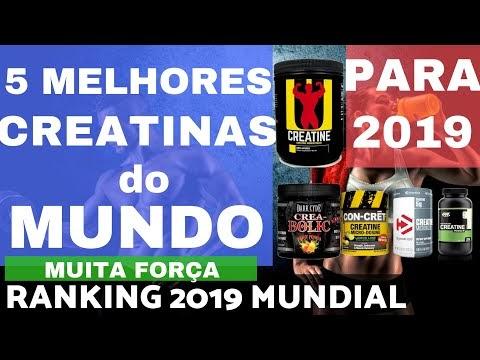 5 MELHORES CREATINAS DO MUNDO 2019 vendidas no Brasil Maior Força Disposição e Ganho de Músculos
