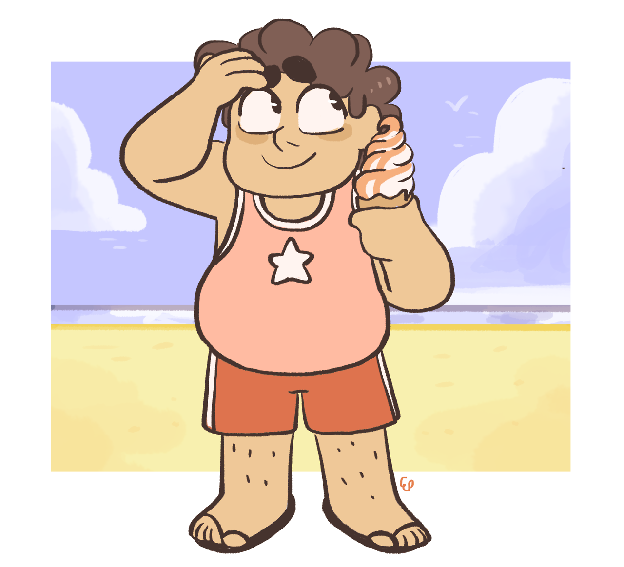 a small steven… i wanted to draw something summery!