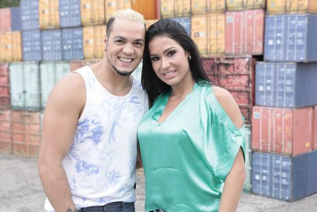 Belo e Gracyane falam sobre como mantem o corpo em forma (Foto: Caldeirão/TV Globo)