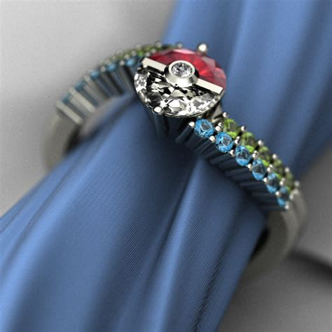 This Poké Ball Engagement Ring Is Fit For A Pokémon Master