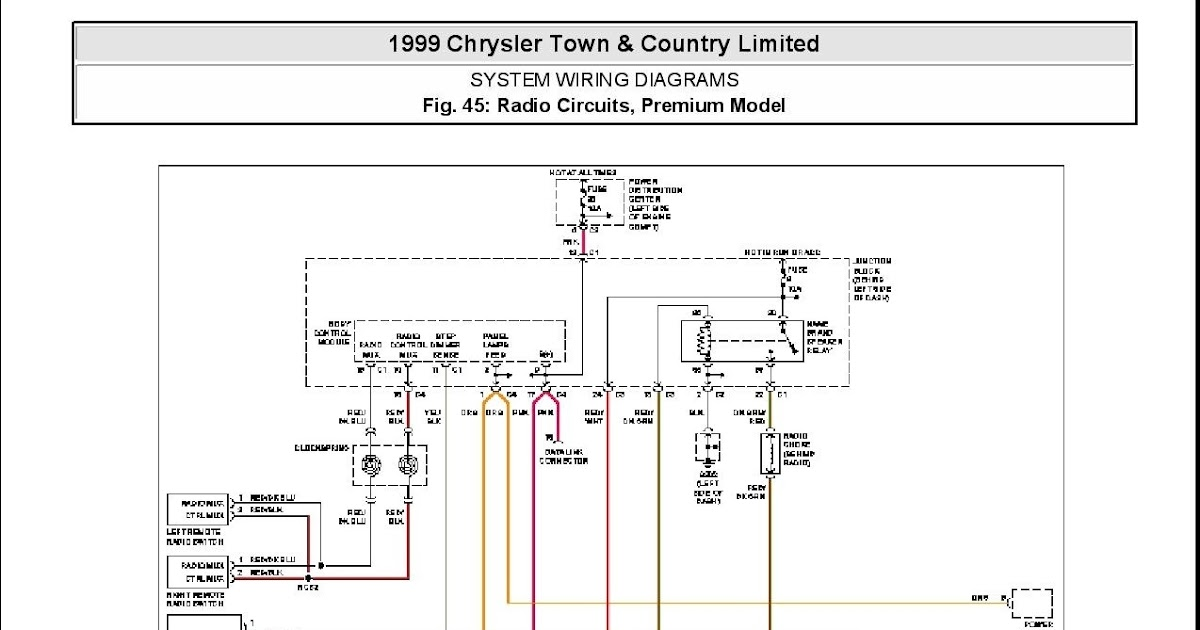 2004 Chrysler Pacifica Radio Wiring Diagram - Cars Wiring ...