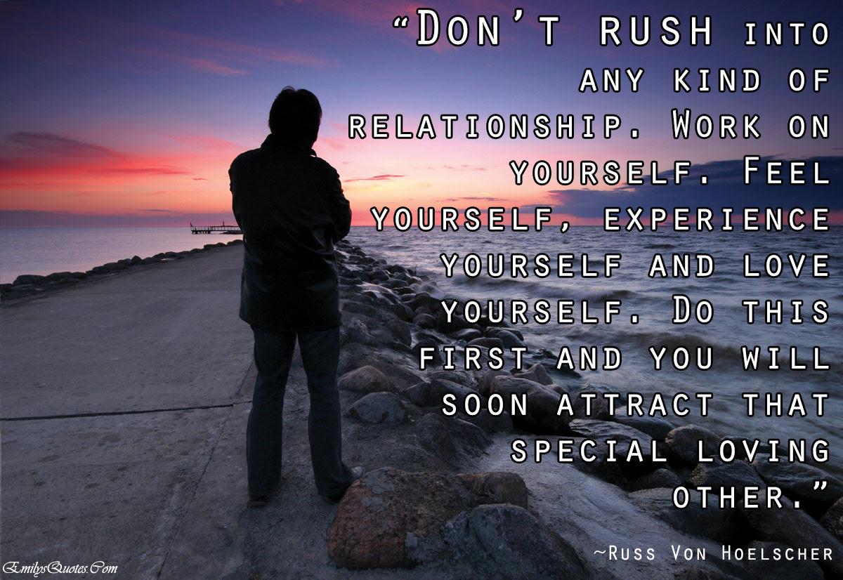"relationship love positive choice inspirational Russ Von """