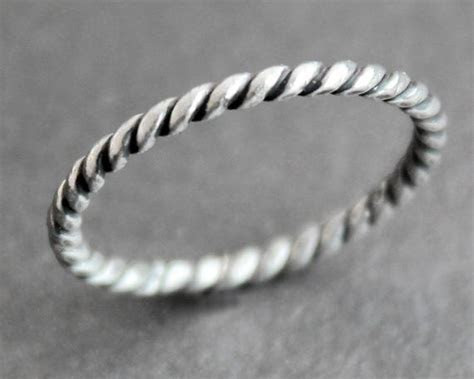 Sailor Ring Twisted Rope Sterling Silver Stacking Band   Etsy
