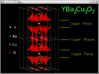Image showing YBa2Cu3O7 superconductor with 2D and 3D polytopes