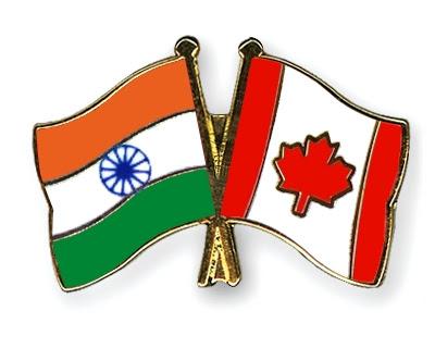 Crossed-Flag-Pins India Canada